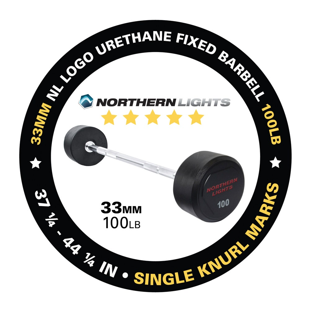 BFU100 fixed urethane barbell